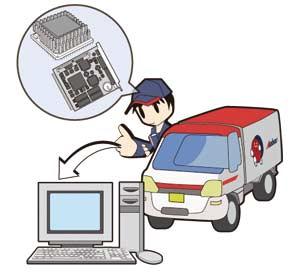 通信機器等の緊急輸送